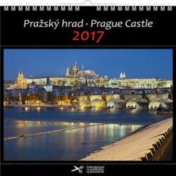Pražský hrad / pohl. kal. na rok 2017-Kalendář je možno zavěsit na stěnu i postavit na stůl. Jednotlivé listy lze použít jako pohlednice.