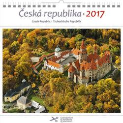 Česká republika / pohl. kal. na rok 2017-Kalend�� je mo�no zav�sit na st�nu i postavit na st�l. Jednotliv� listy lze pou��t jako pohlednice.