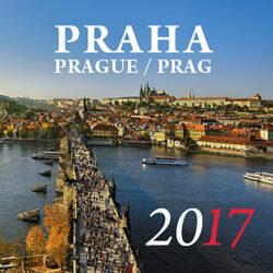 Praha / minikalendář s magnetem na rok 2017